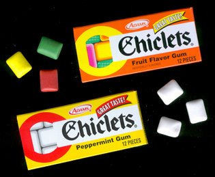 The Fleer Brothers first gum invention:  Chiclets