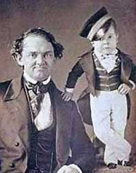 Barnum with General Tom Thumb